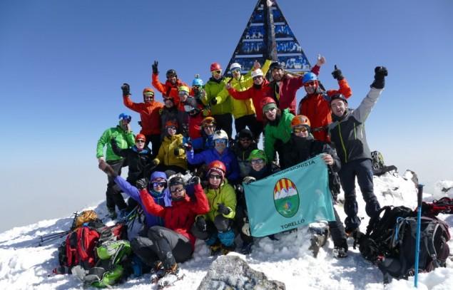 Foto de grup al cim del Toubkal.