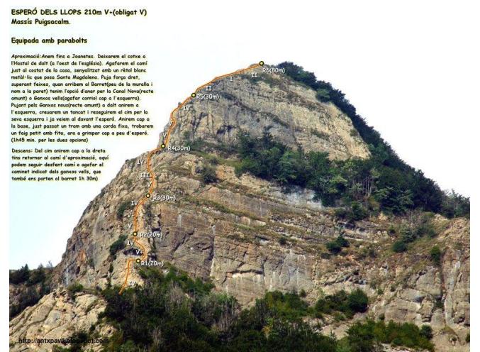 Una de les vies que conté l'article (zona Puigsacalm).